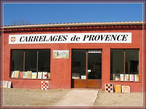 Carrelages de provence provencal tiles and glazed lava for Fabricant de carrelage en italie