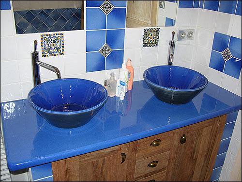 Pierre de lave maill e salernes lave emaillee cuisine - Plan de travail pierre bleue prix ...
