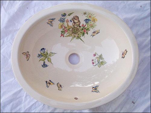 Vasque salernes var 83 carrelages de provence plan de for Vasque ancienne en porcelaine